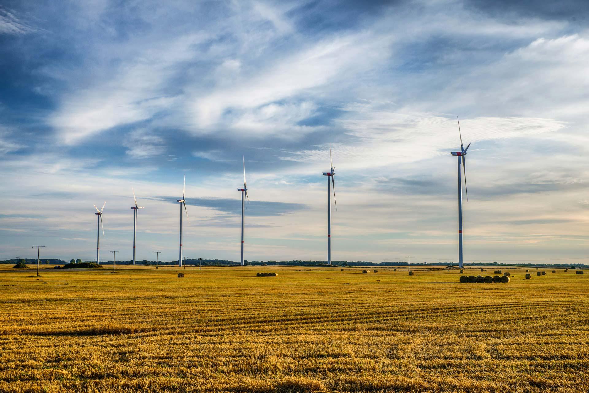 Ansicht des Windparks Plauerhagen